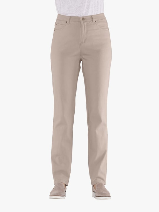 Strečové kalhoty - sezamová