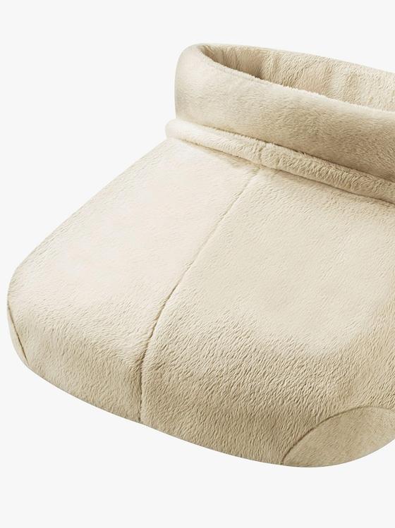 Fußwärmer mit Massage - weiß