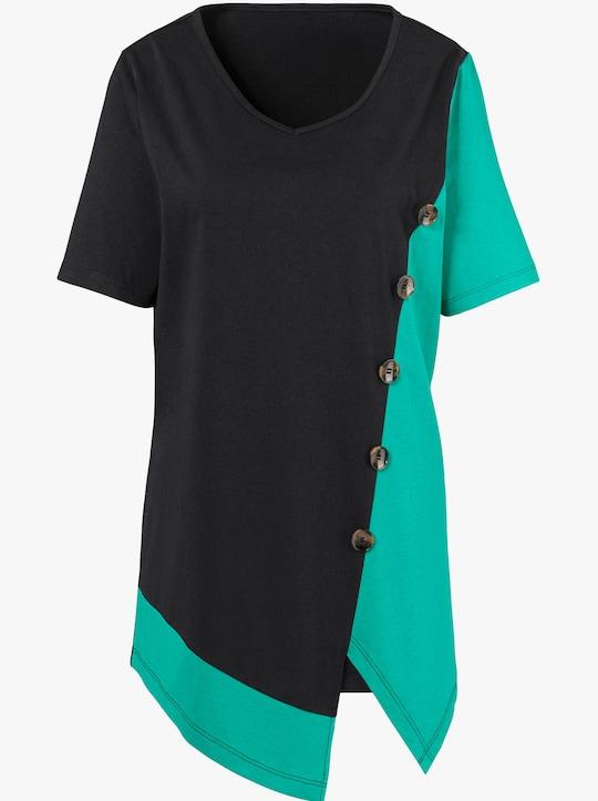 Shirt - smaragdgroen/zwart