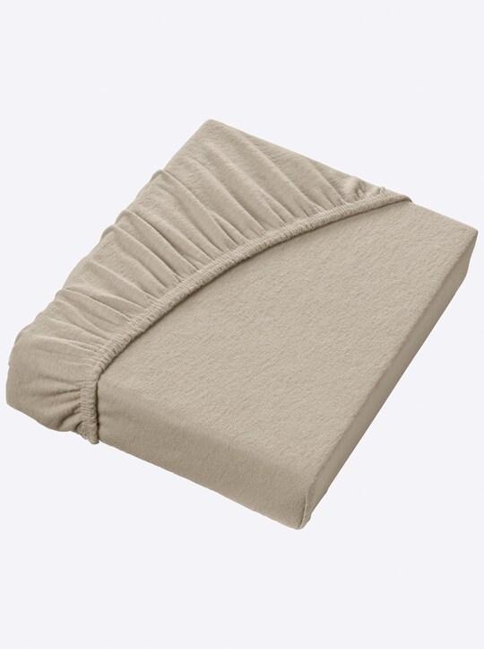 Schlafgut Spannbetttuch - taupe