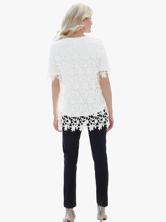 Lange blouse - wit