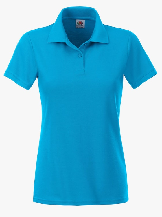 Fruit of the Loom Poloshirt - azurblau