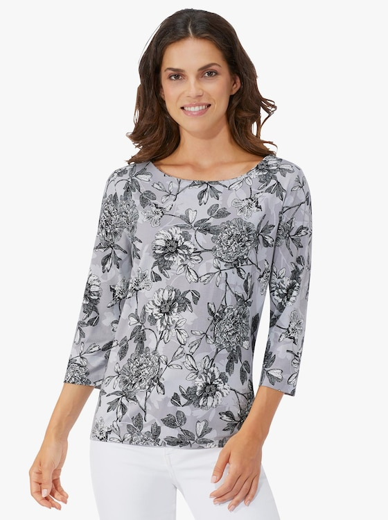 Fair Lady Shirt - grau-bedruckt