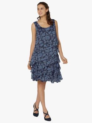 Kleid - nachtblau-bleu-bedruckt