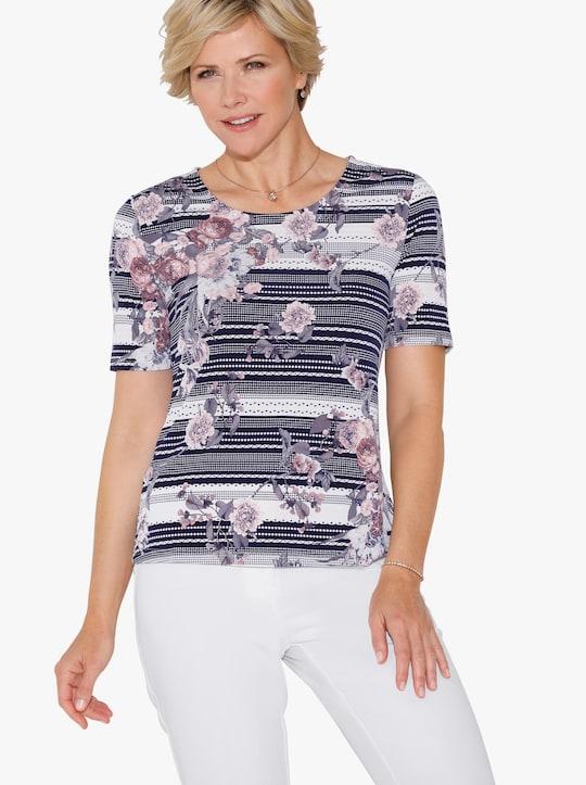 Shirt - rozenkwarts bedrukt