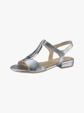 Sandalette - silberfarben