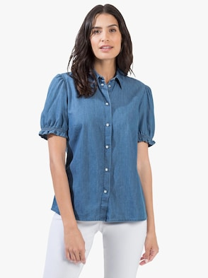Jeansbluse - blue-bleached