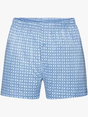 Boxershorts - lichtblauw geprint