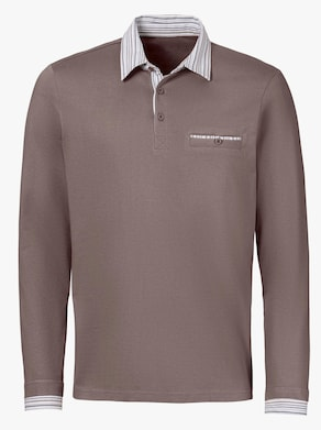 Poloshirt - dunkeltaupe