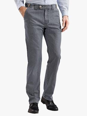 Autofahrer-Jeans - grey-denim