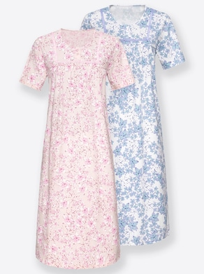 wäschepur Nachthemden - rosé + flieder