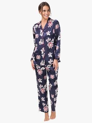 Pyjama - marine-bedruckt