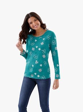 Tričko - zelená-melír