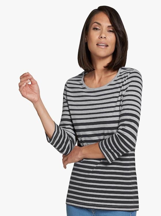 Shirt - grijs/zwart gestreept