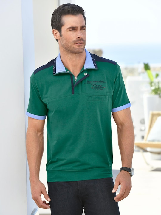 Marco Donati Kurzarm-Shirt - smaragdgrün