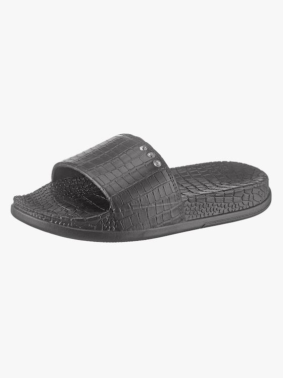Siebi´s Bade-Pantolette - schwarz