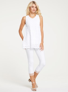Linea Tesini Blusentop - weiß