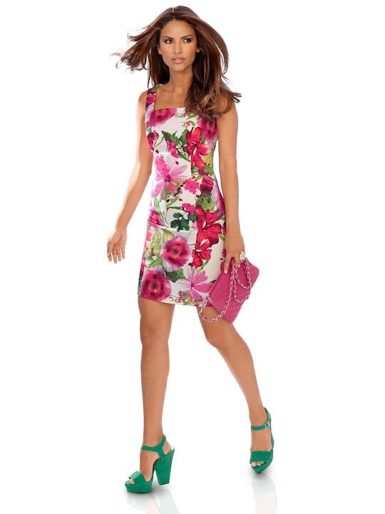 Ashley Brooke Druck-Kleid - rot-grün