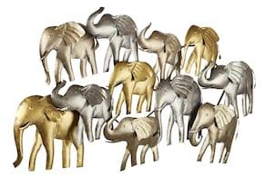 heine home Wanddeko Elefanten - goldfarben-silberfarben