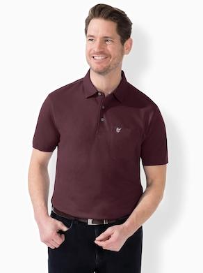 Hajo Kurzarm-Poloshirt - burgund