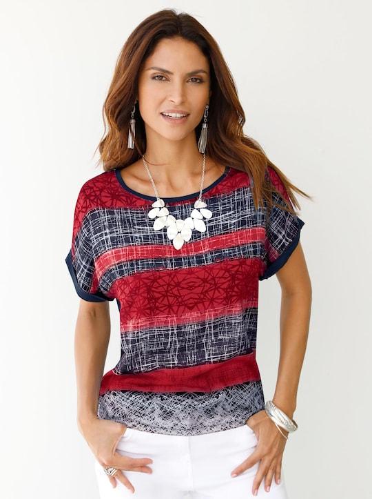 Shirt - rot-bedruckt