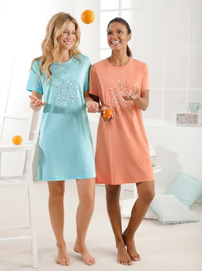 Sleepshirts - mint-meliert + orange-meliert