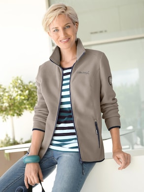 Collection L Fleece-Jacke - taupe