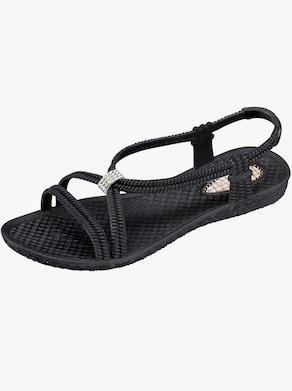 Koupací sandály - černá