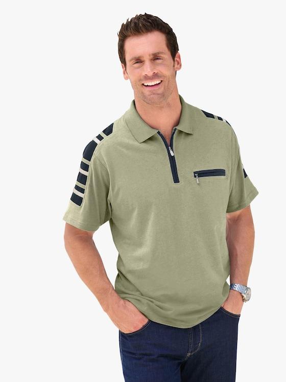 Kurzarm-Poloshirt - pistazie
