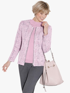 Shirtblazer - roze gedessineerd