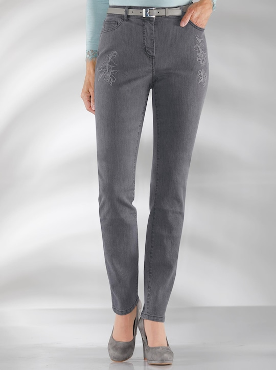 Jeans - dark grey-denim