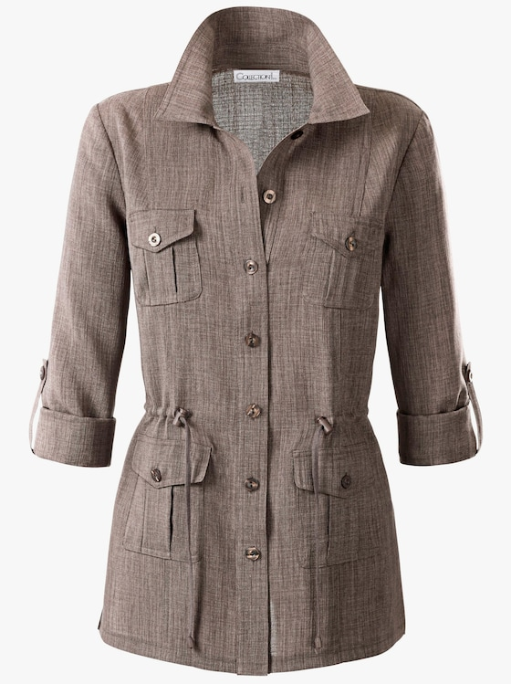 Lange blouse - taupe