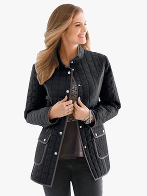 Prešívaná bunda - čierna