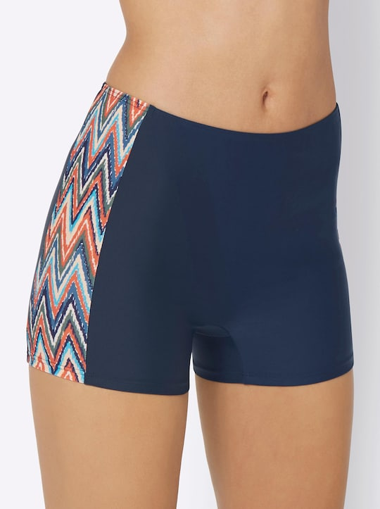 feel good Bikini-Hose - marine-bunt-bedruckt