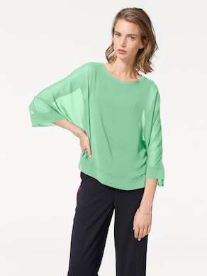 Rick Cardona Blusenshirt - apfelgrün