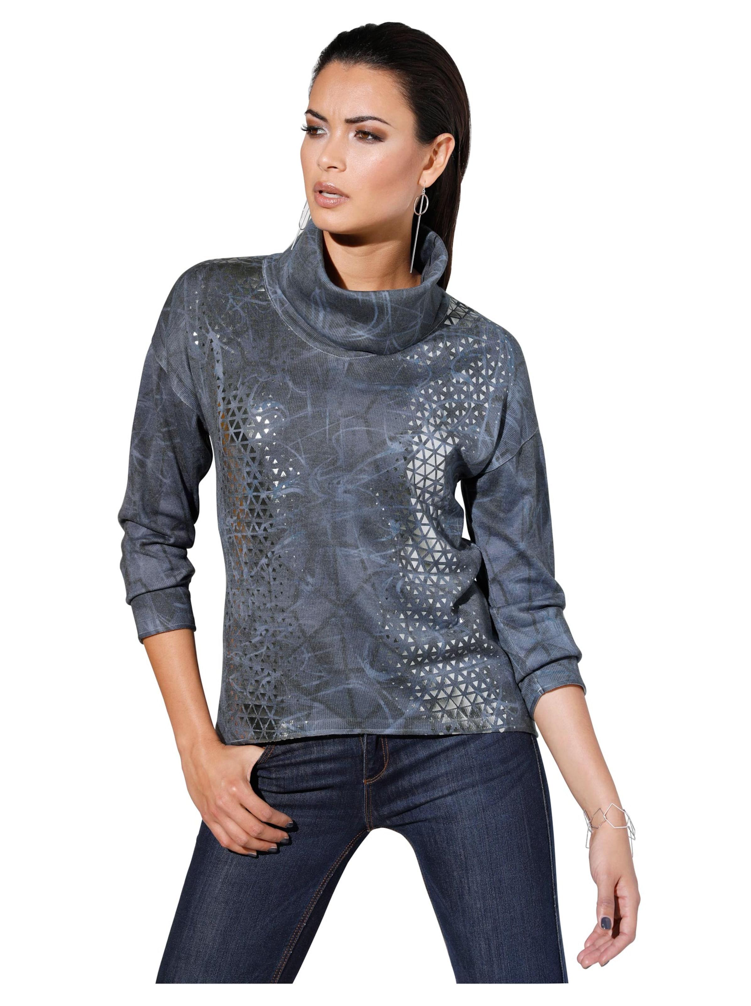 witt weiden -  Damen Pullover blau-bedruckt