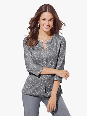 Shirt - grau-wollweiß