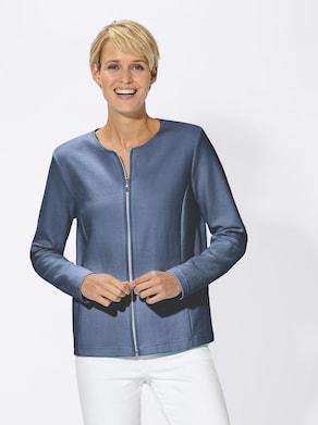 Jersey-Blazer - jeansblau