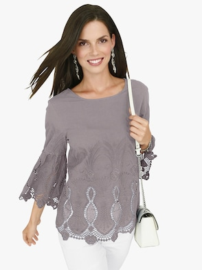 Bluse - taupe