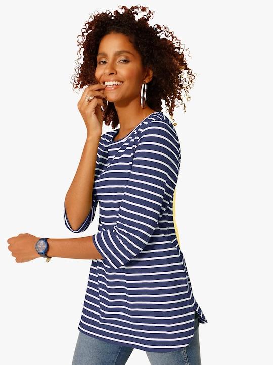 Dlouhé tričko - námořnická modrá-proužek