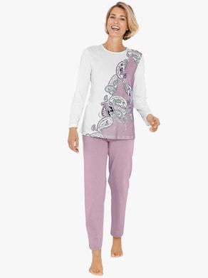 Schlafanzug - rosa-ecru