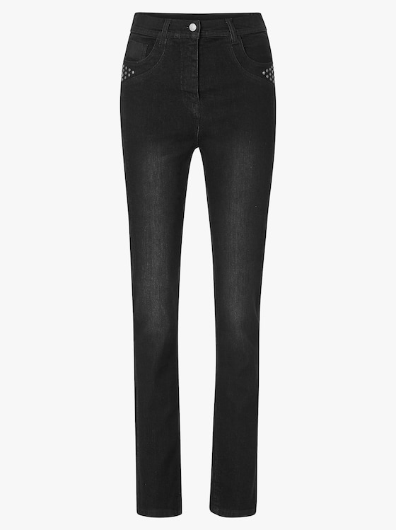 Jeans - black denim