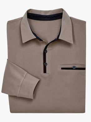 Poloshirt - taupe