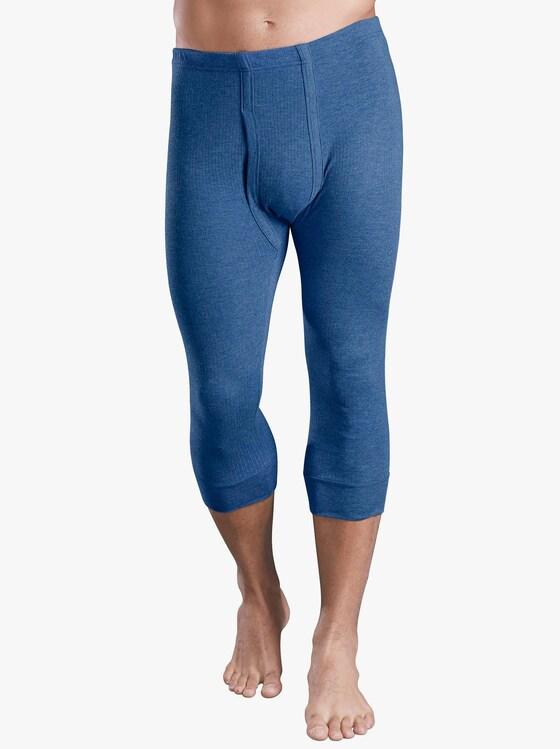 Hose 3/4-lang - blau-meliert