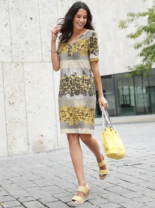 Kleid Grau Gelb  new york 2022