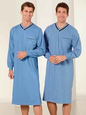 KINGsCLUB Langarm-Nachthemden - blau