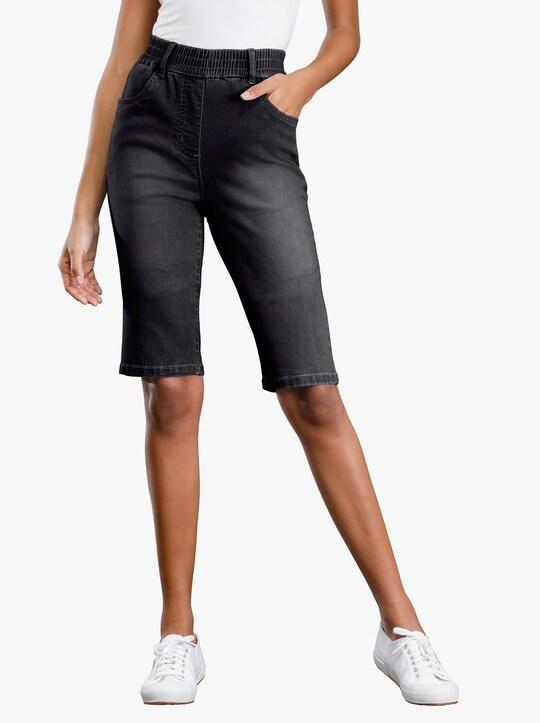 Jeansbermudas - black-denim