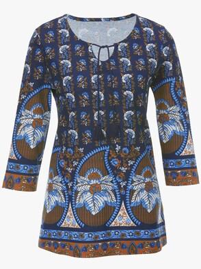 Shirt - nachtblau-bedruckt