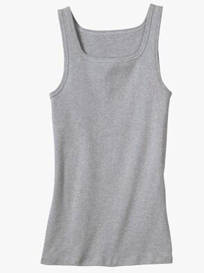 Unterhemd - grau-meliert
