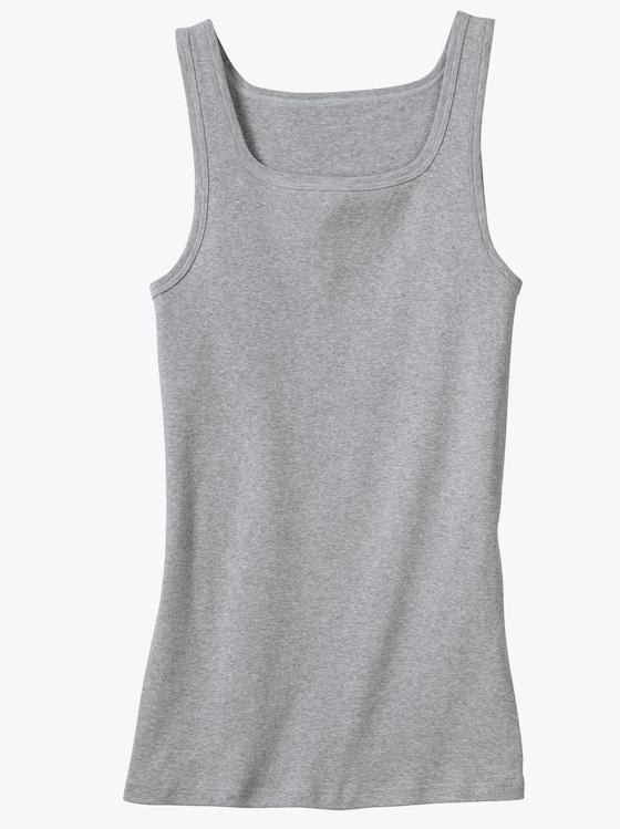 bugatti Unterhemd - grau-meliert